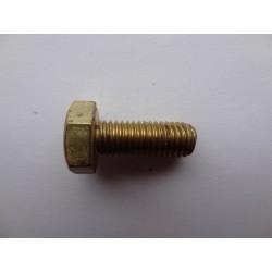 Śruba M 6 x 40 DIN 933 ISO 4017 PN 82105 Ms mosiądz łeb 6-kątny pełny gwint mosiężna Ms