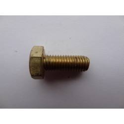 Śruba M 10 x 60 DIN 933 ISO 4017 PN 82105 Ms mosiądz łeb 6-kątny pełny gwint mosiężna Ms