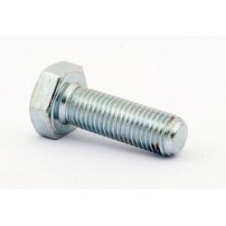 Śruba M 24 x 140 DIN 933 ISO 4017 PN 82105 klasa 8.8 ocynkowana łeb 6-kątny pełny gwint